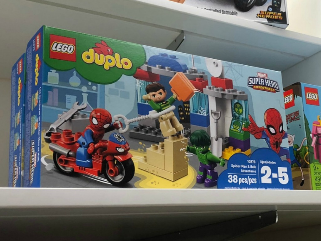 LEGO Duplo Spider-Man Set on store shelf