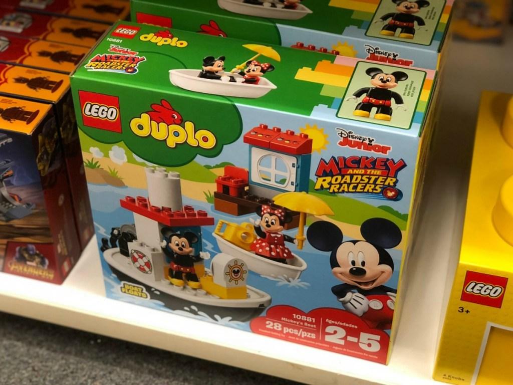 LEGO DUPLO on shelf in box in store
