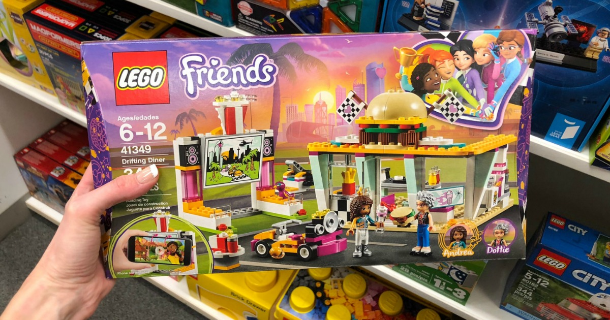 LEGO Friends Diner set in hand in store