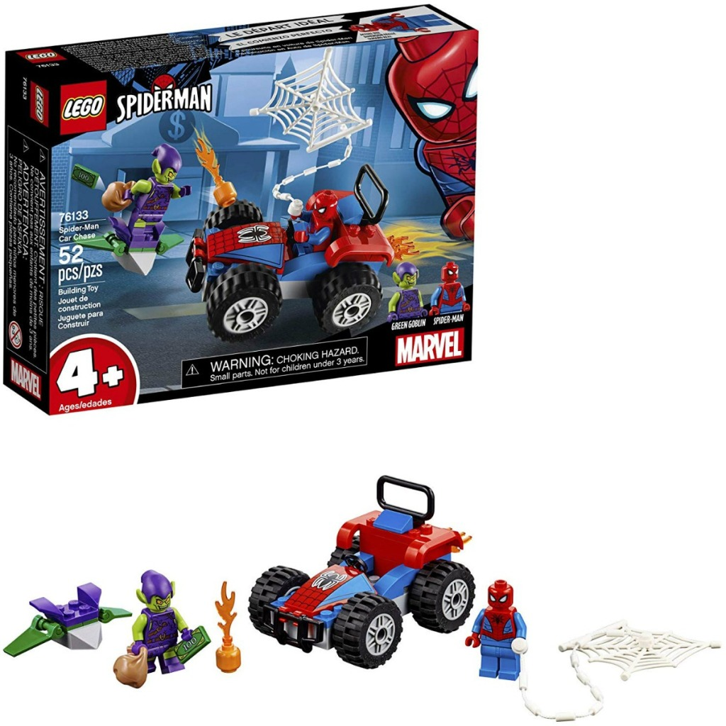 Spider-man LEGO set with vehicle and two characters