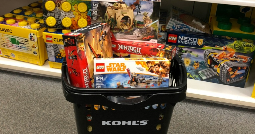 LEGO Sets in Kohl's basket