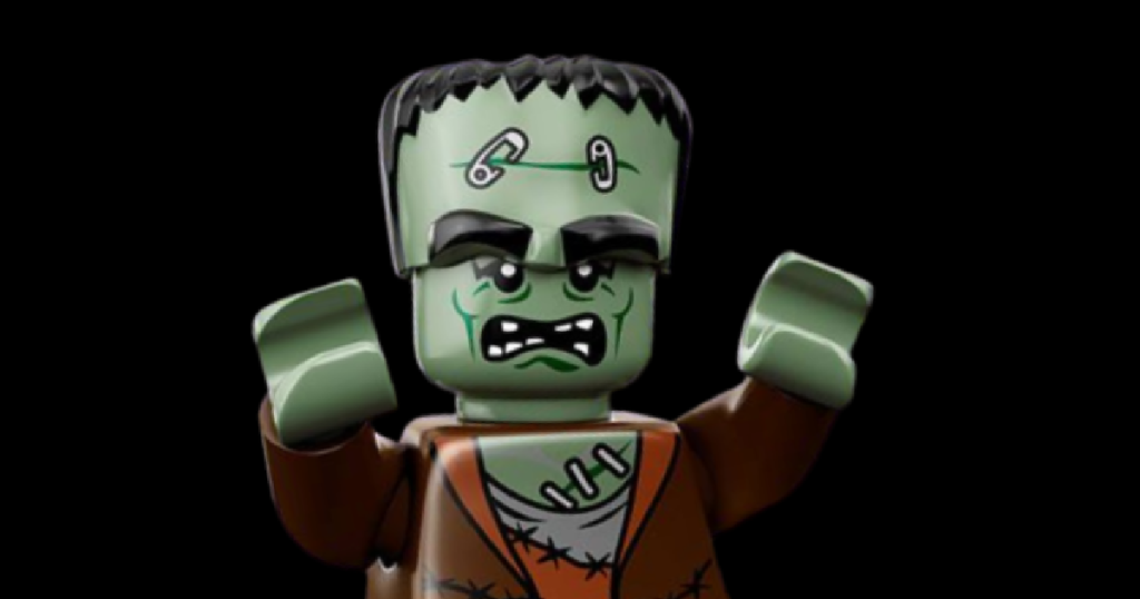 lego made to look like frankenstein