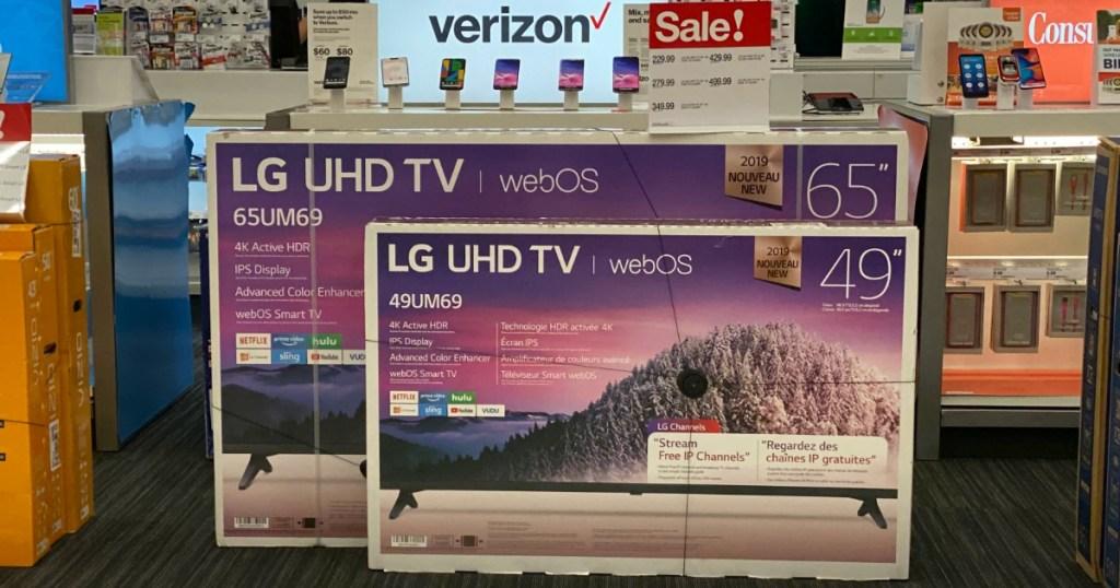 LG UHD TVs at Target