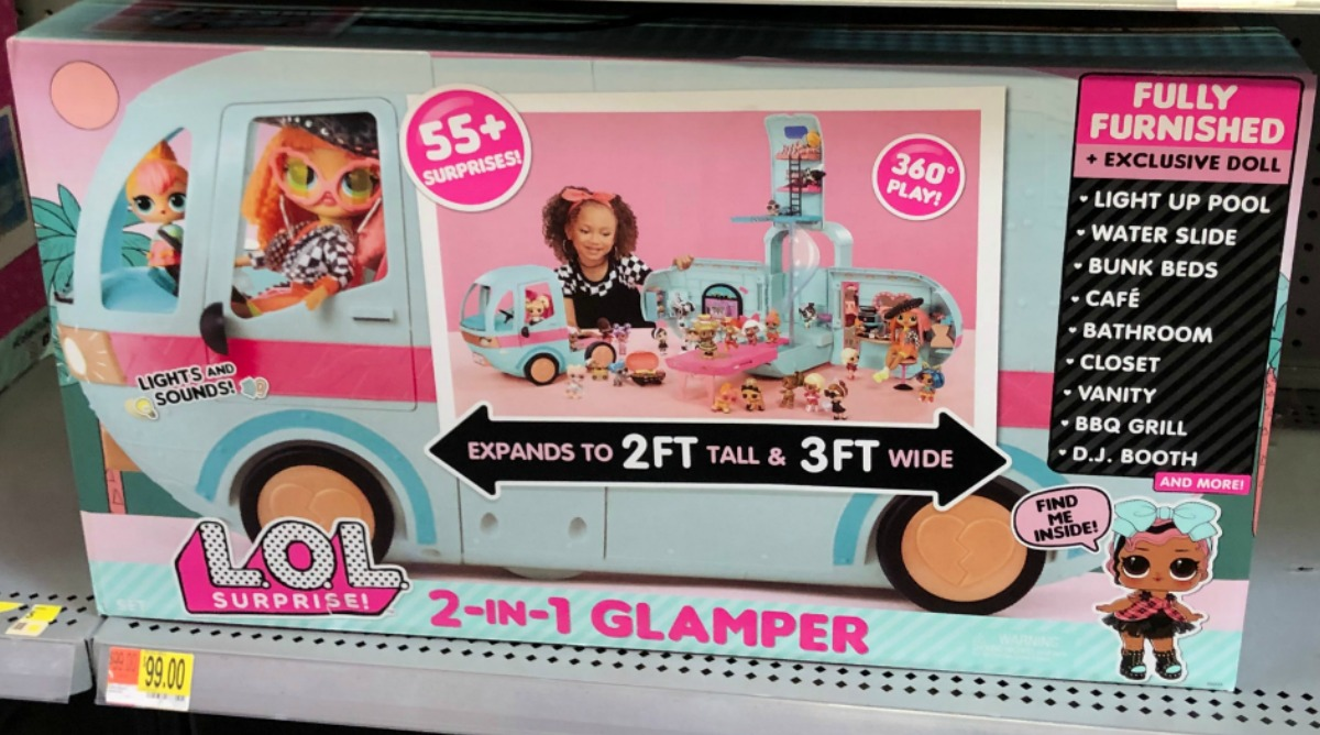 LOL Surprise 2-in-1 Glamper on display at store