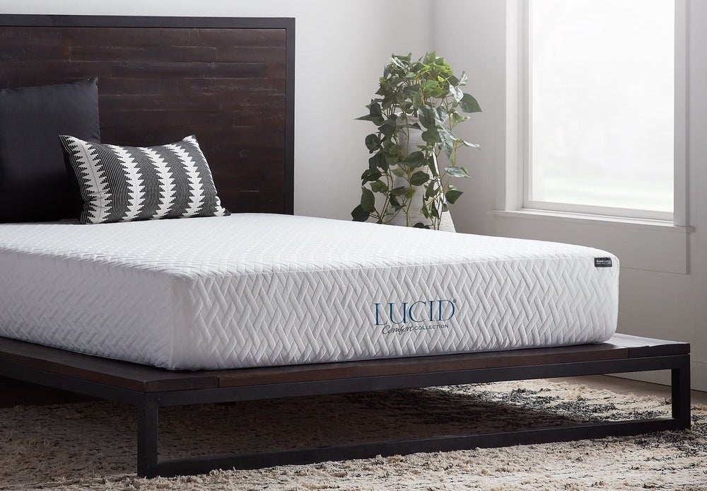 Lucid mattress on bed