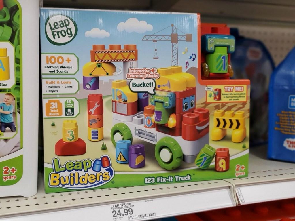 Leap Frog Leap Builders on Target shelf