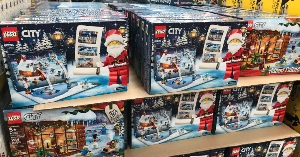 Lego City Advent Calendar display at Costco