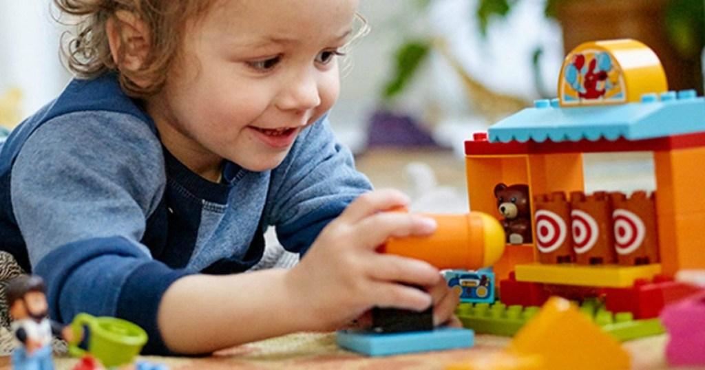 Lego-Duplo Set with Boy