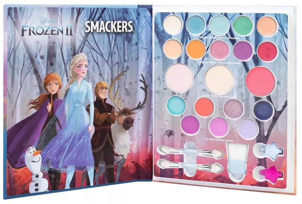 Open view of Lip Smacker Frozen 2 Beauty Book