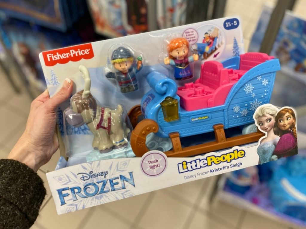 Fisher-Price Little People Disney Frozen toy sleigh in package in Target store