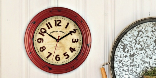 Mainstays Red Wall Clock Only $2.65 at Walmart (Regularly $9) + More
