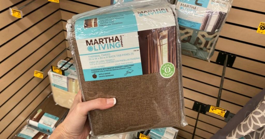 Hand holding Martha Living Curtain Panel