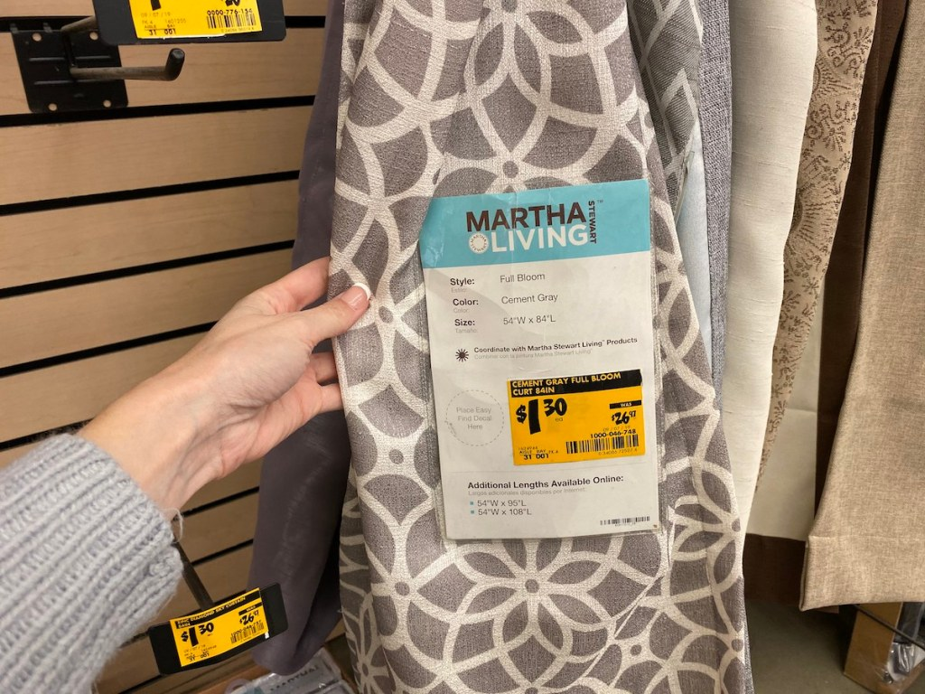 Martha Living Full Bloom Curtain Panel at Home Depot