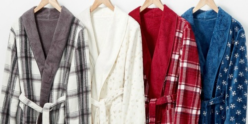 Martha Stewart Plush Reversible Bath Robes Only $11.89 at Macy's (Regularly $60)