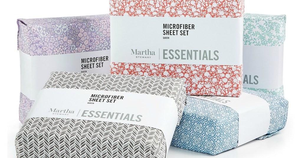 Martha Stewart Printed Essentials Sheets