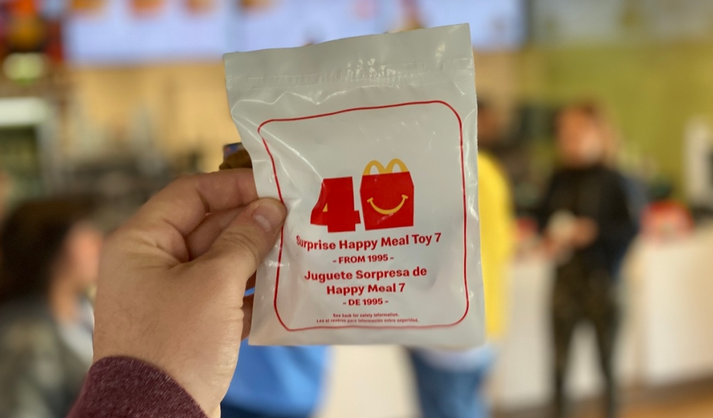 hand holding McDonald's Surprise Toy