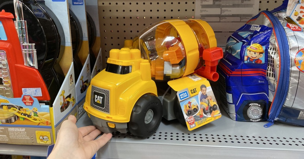 Mega Bloks Caterpillar Cement Mixer Vehicle