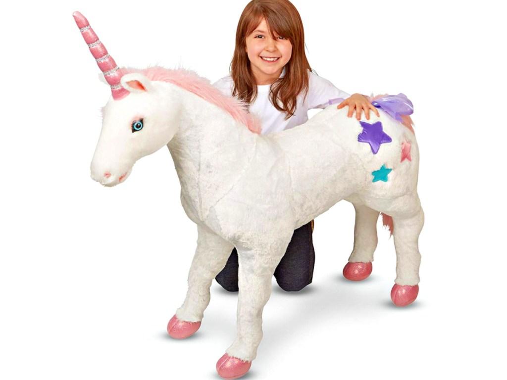 Melissa & Doug Giant Unicorn with girl