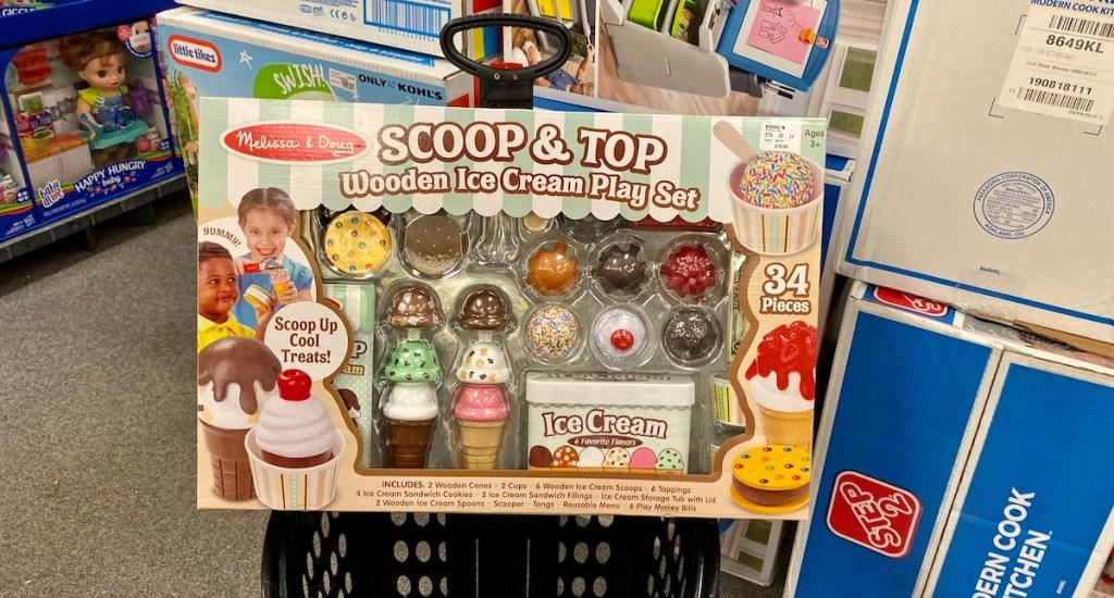 Melissa & Doug Scoop and Top Ice Cream Play Set