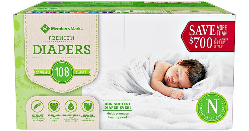 Member's Mark Premium Diapers 108-Count