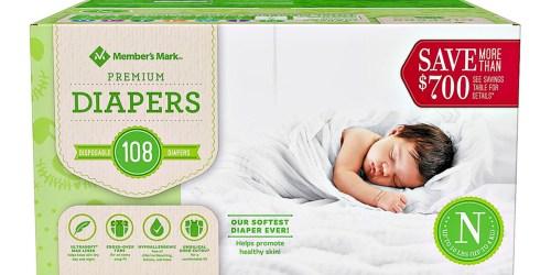 Member's Mark Premium Diapers Boxes as Low as $6.98 Shipped at Sam's Club | Just 6¢ Per Diaper