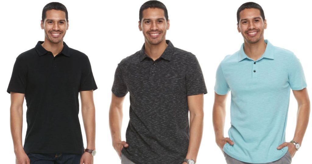 Men's Apt. 9 Slim-Fit Slubbed Polo