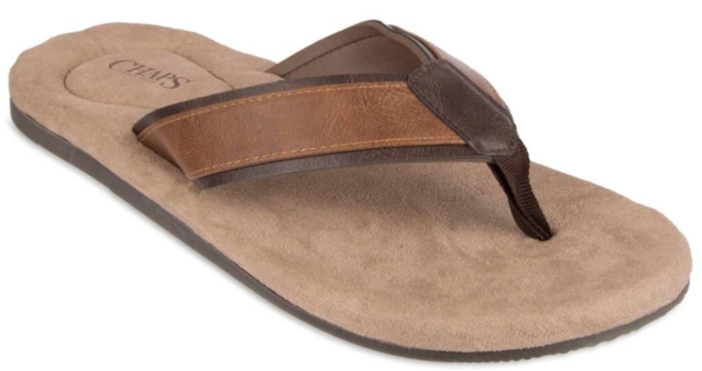 Men's Chaps Overlay Thong Flip-Flops