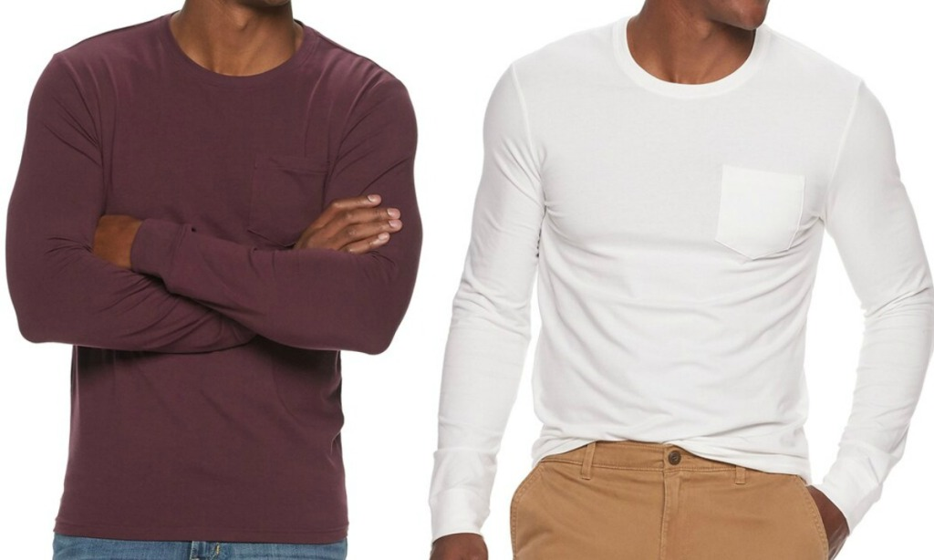 Crewneck Pocket Tee in two styles