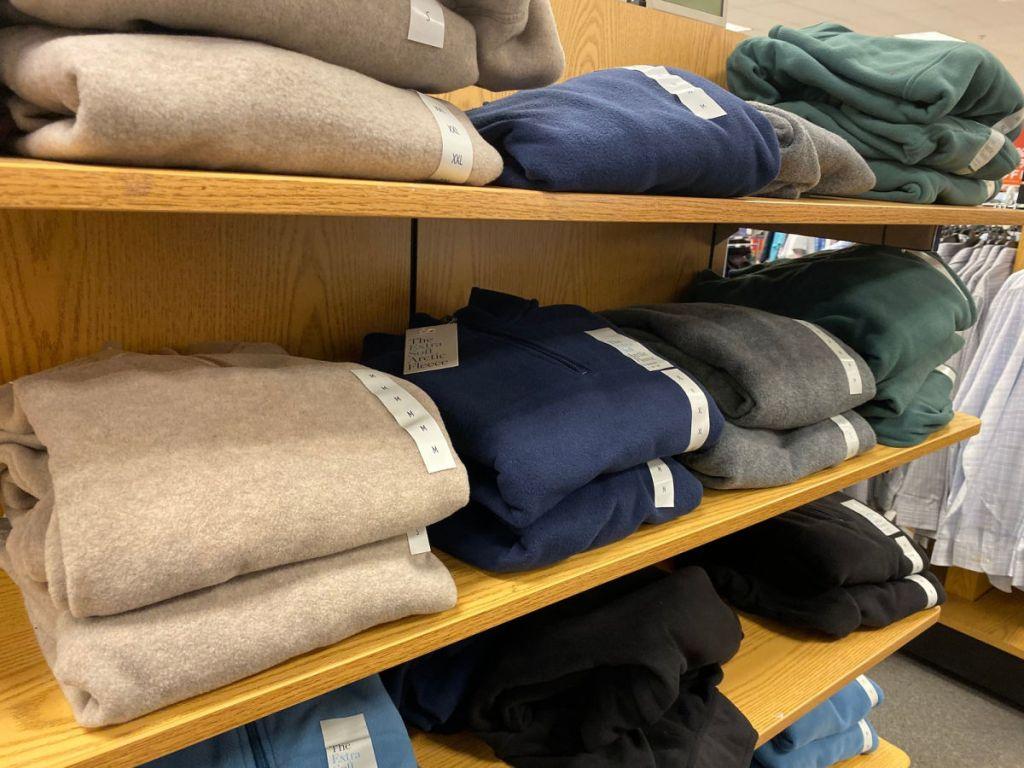 Men's Croft & Barrow Arctic Fleece Quarter-Zip Sweater Shelf