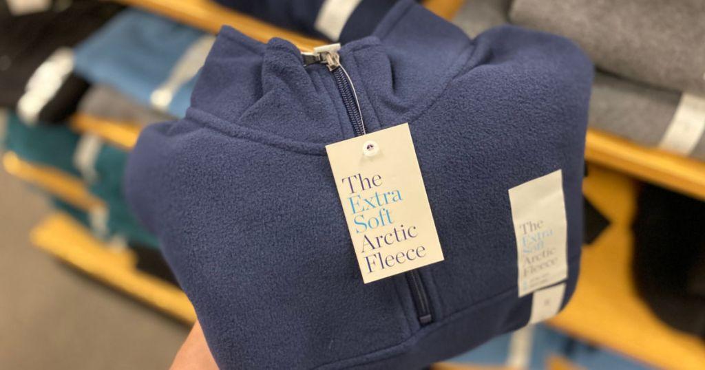 Men's Croft & Barrow Arctic Fleece Quarter-Zip Sweater