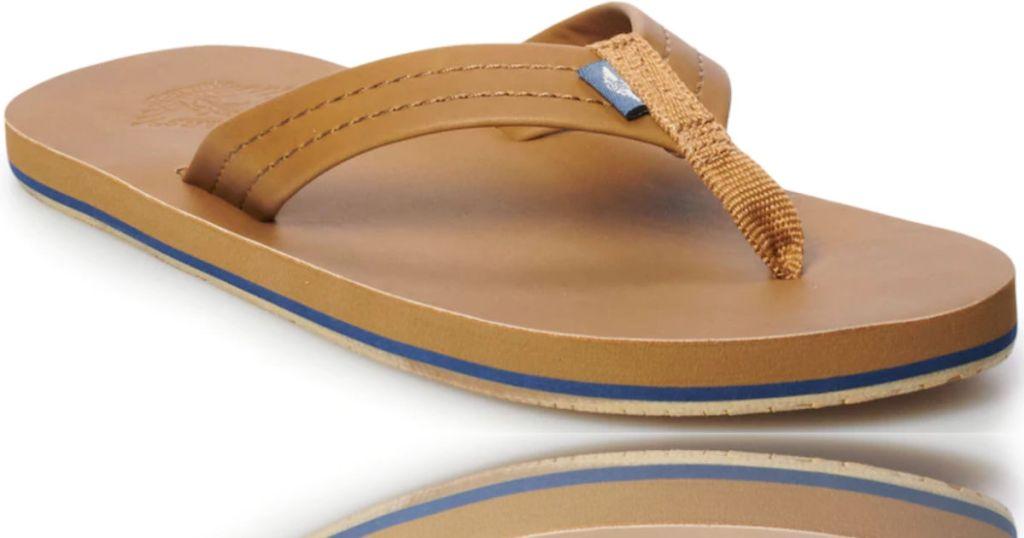 Men's Dockers Faux Leather Flip-Flops