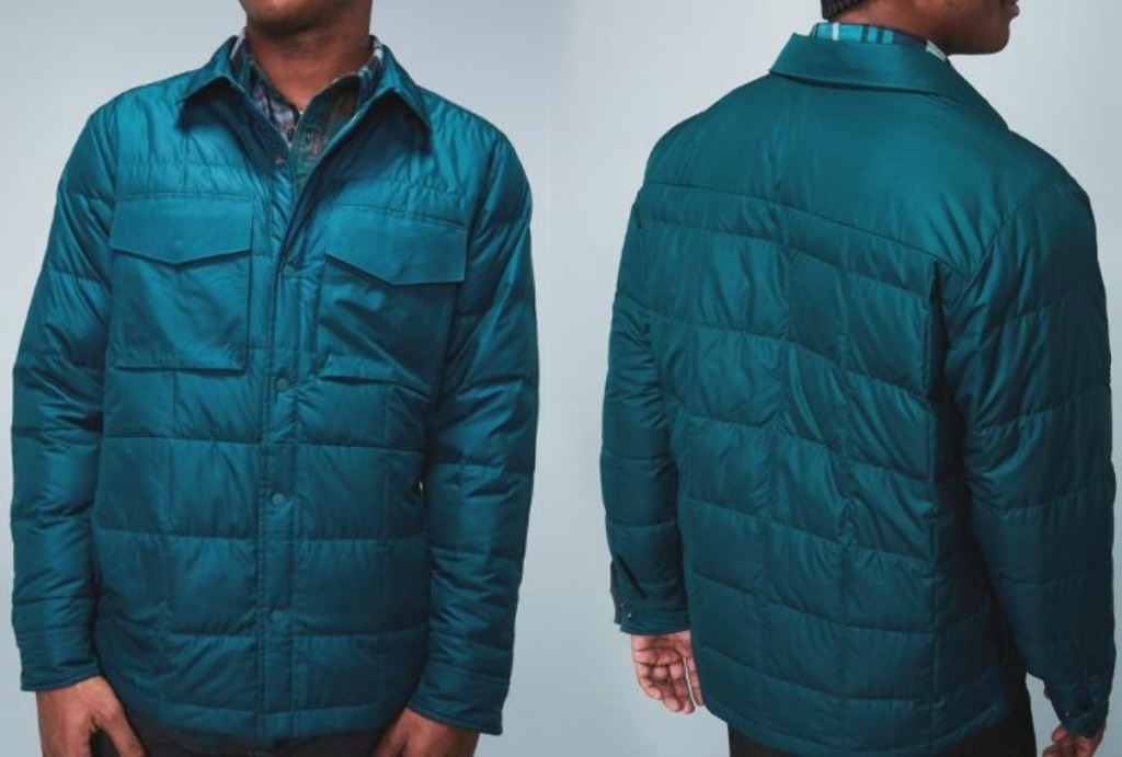 Men's Jacket REI Co-op in teal - front and back view