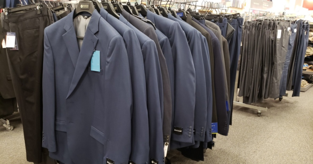 mens suits at store