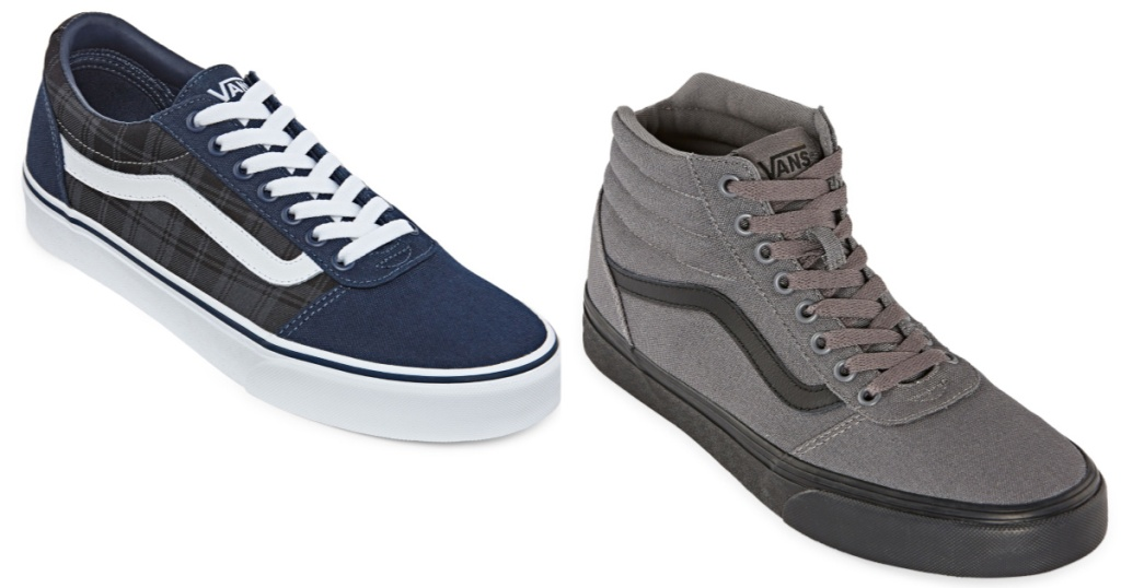 two pairs of mens vans shoes