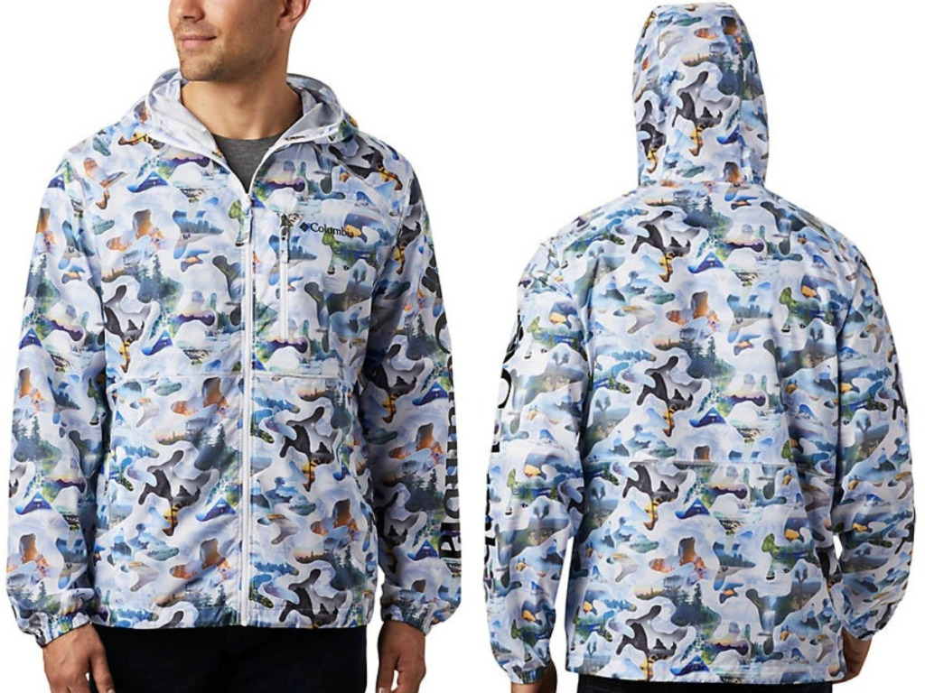 Men's Wind Breaker in camo print