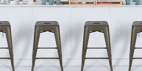 FOUR Metal Counter Stools Only $85.49 Shipped (Just $21.37 Each) | 6 Colors Available