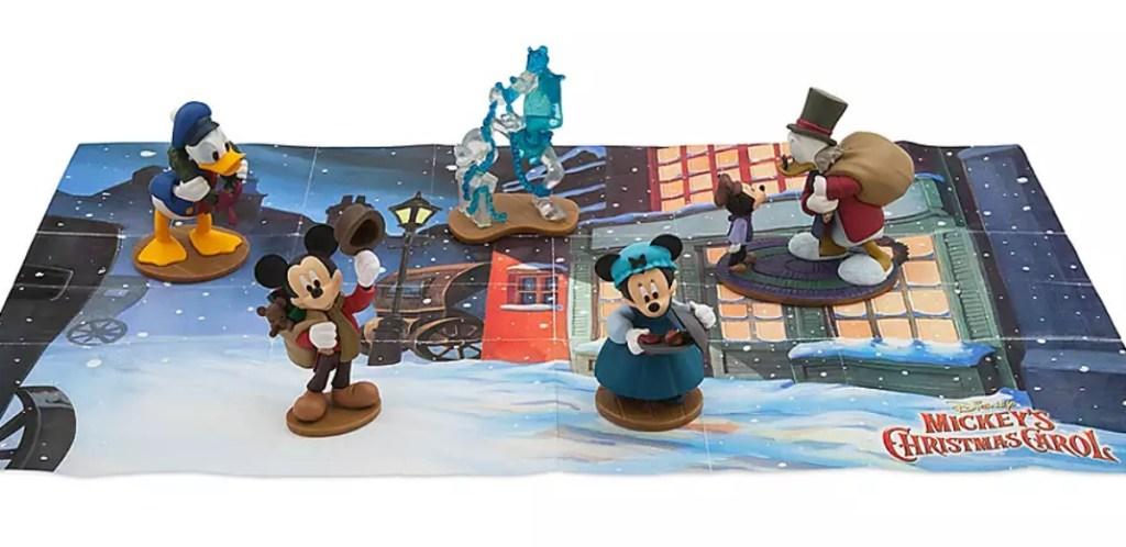 Mickey's a Christmas Carol figures play set
