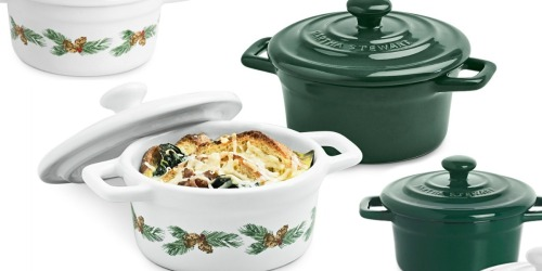 Martha Stewart Mini Holiday Cocottes Only $4.99 After Macy's Rebate (Regularly $50) + More