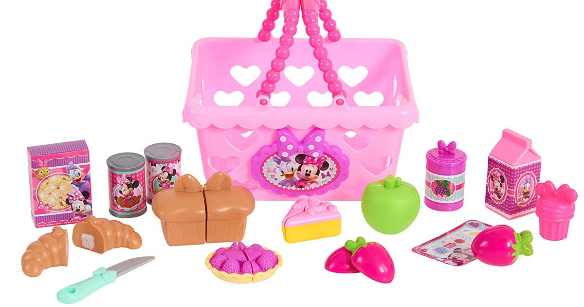minnie mouse bow shopping basket contents