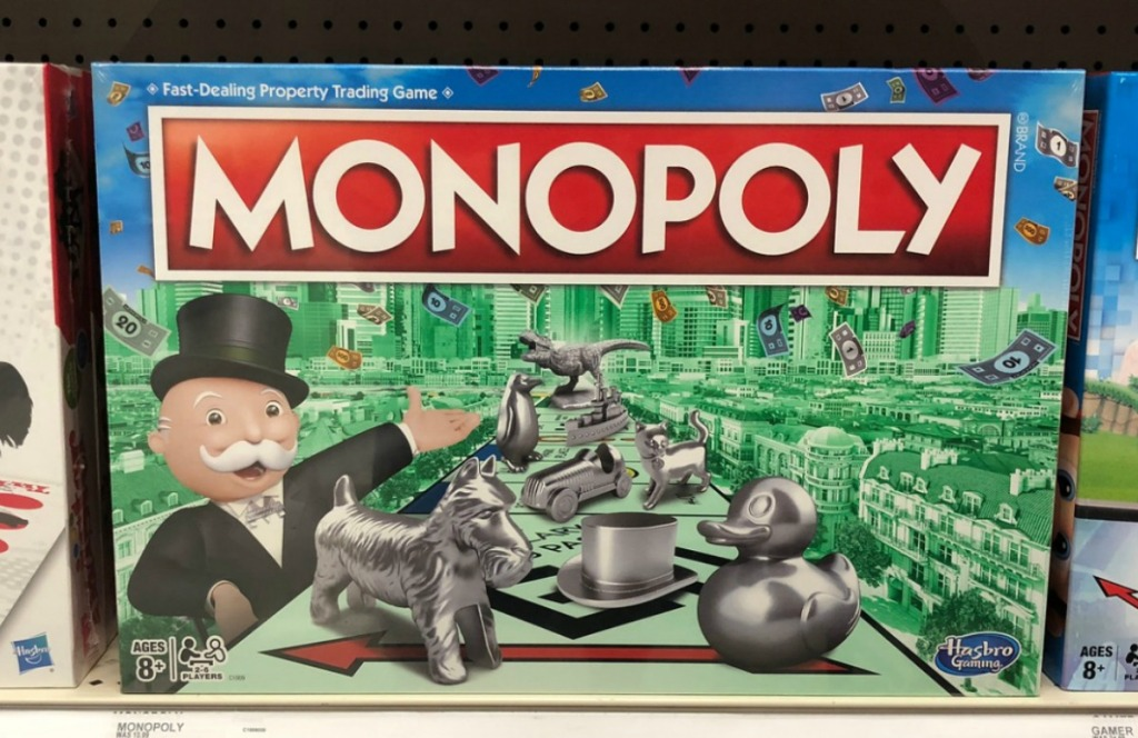 Monopoly Board Game on display in-store
