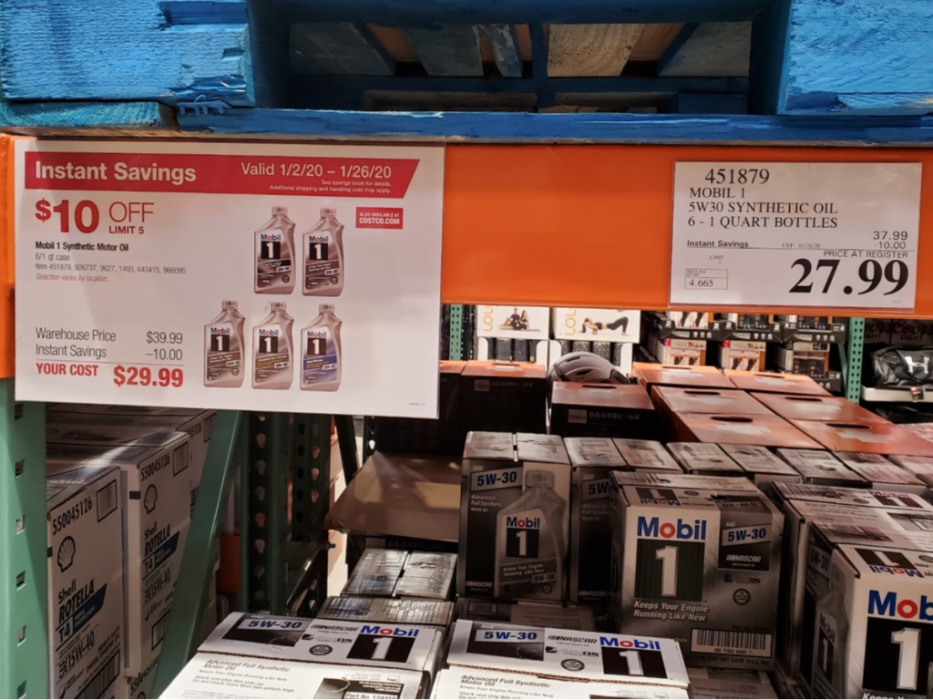 Mobil 1 Motor Oil from Costco