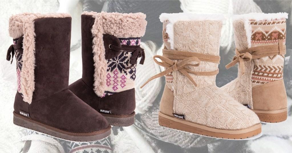 Muk Luks brand women's boots