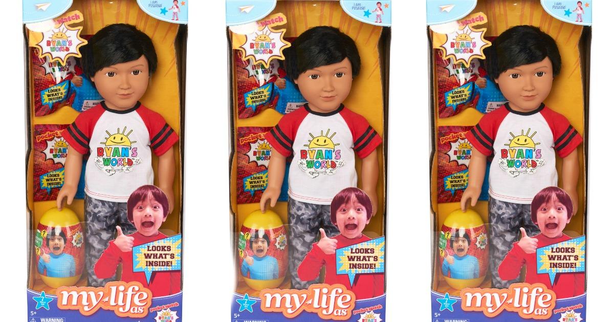 three Ryan's World Doll box stock images