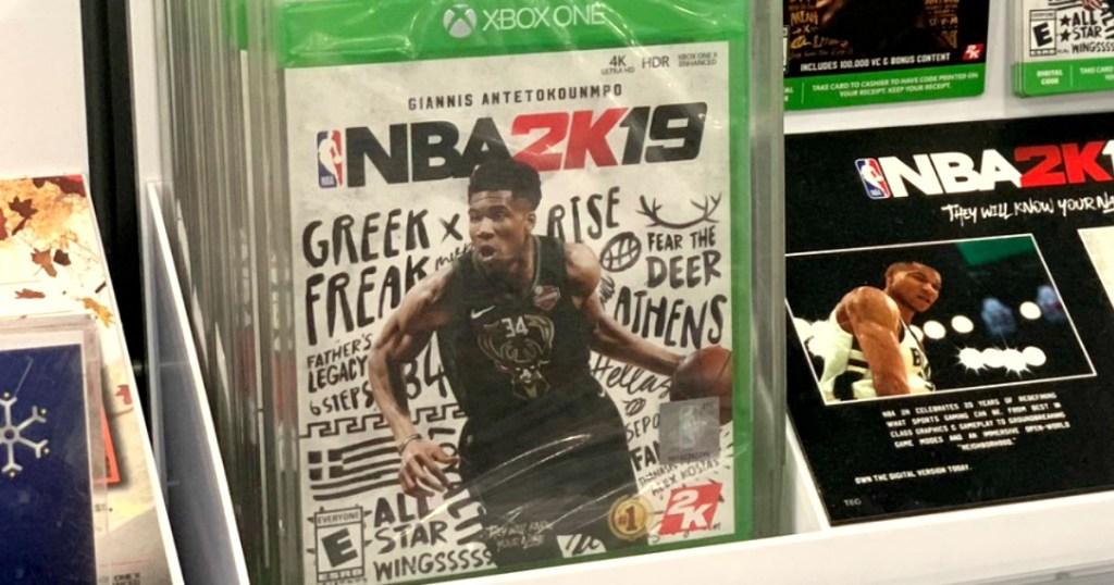 NBA2K19 Vide Game on display in-store