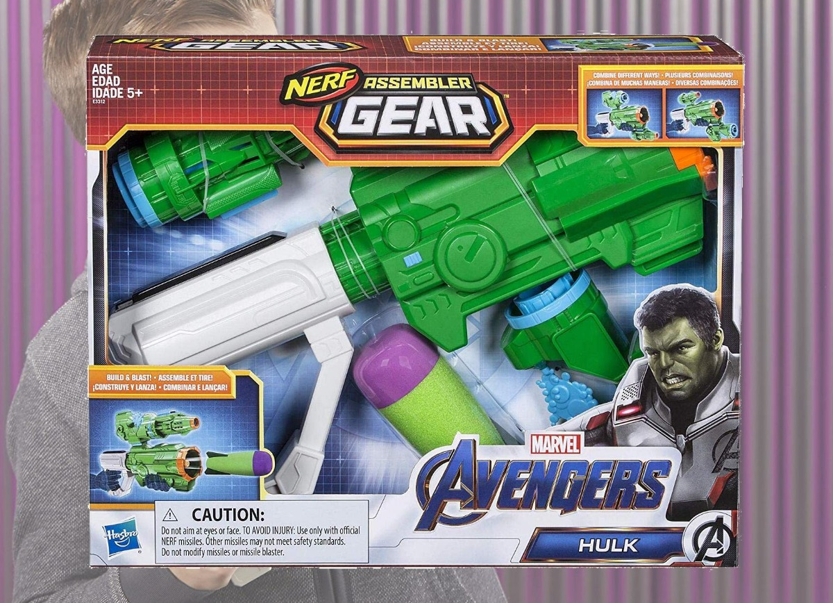 Hulk themed nerf set