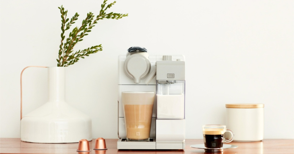 nespresso machine on table
