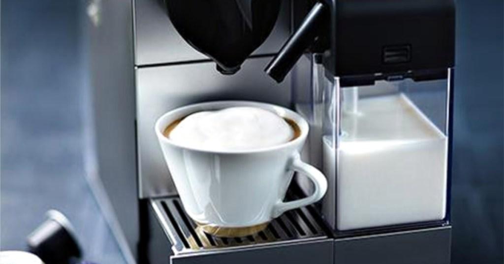 nespresso machine making espresso