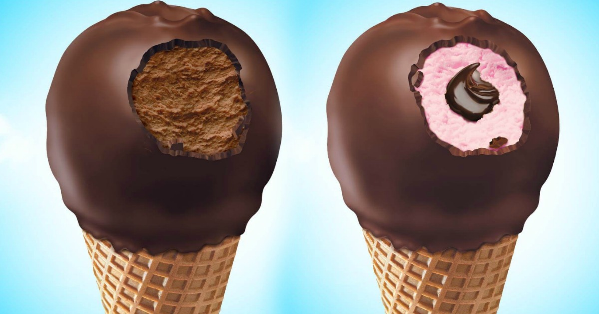 Nestle Drumstick Peppermint Cones stock images