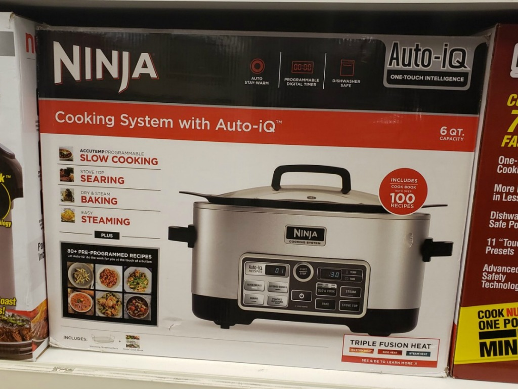 Ninja Cooking System in box on display at store