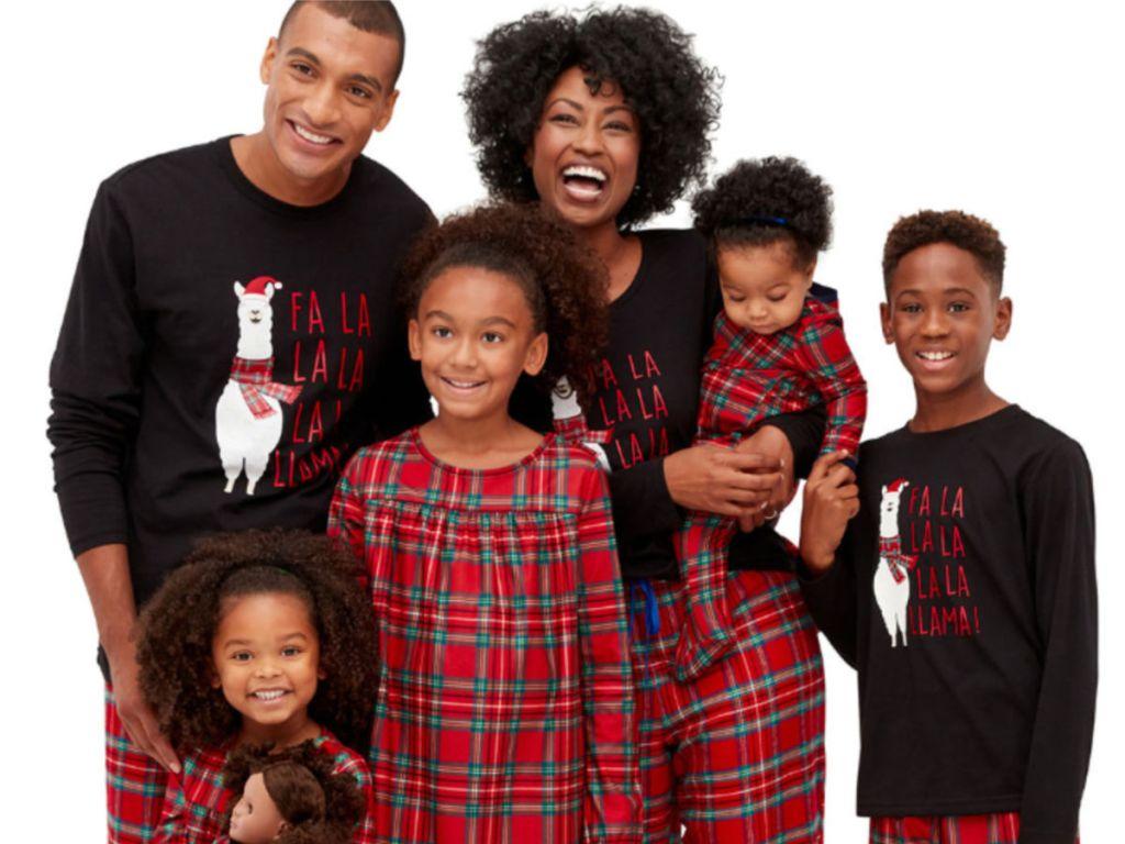 North Pole Trading Co. Fa La Llama Family Pajamas